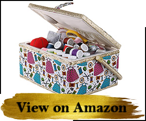 Medium Sewing Basket Organizer with Complete Sewing Kit